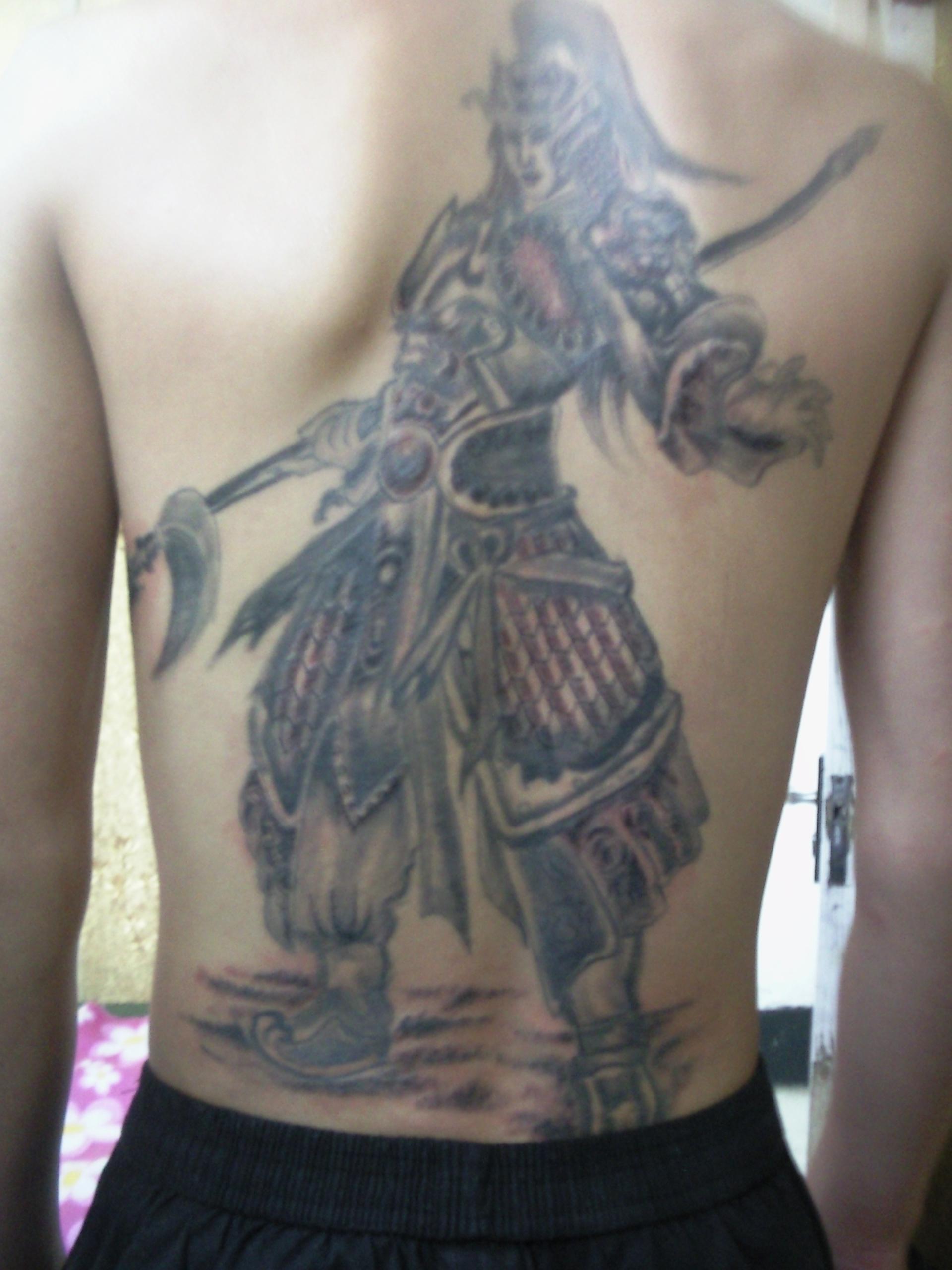 纹身图赵子龙